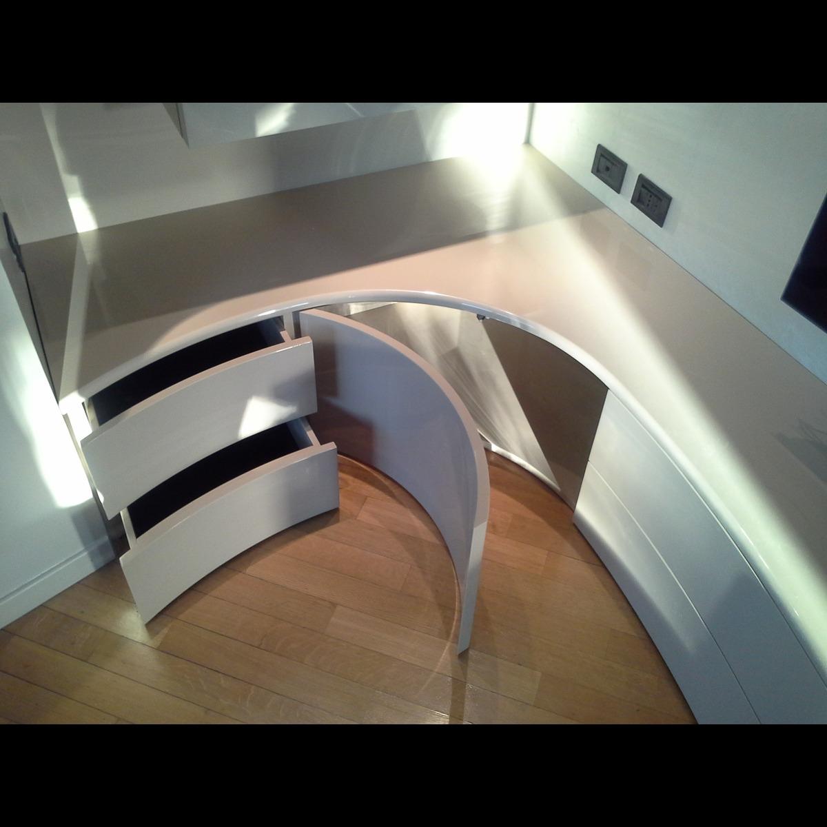 Realizzazione arredo living abitazione privata cornate d for Arredo living 2016